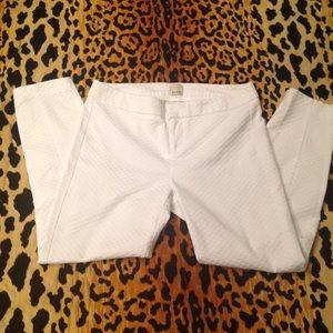 Pants - Ecru White Cigarette Pant